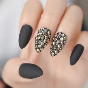 NWT black matte nails